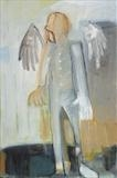 Angel 4 by Jeremy Scrine, Painting, Oil on canvas