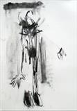 Attempted Flight 1 by Jeremy Scrine, Drawing, Charcoal on Paper