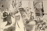 Still Life study 1 by Jeremy Scrine, Drawing, Charcoal on Paper