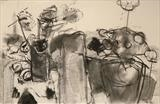 Still Life study 2 by Jeremy Scrine, Drawing, Charcoal on Paper