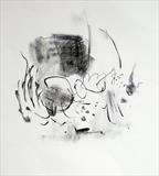 pond 1 by Jeremy Scrine, Drawing, Charcoal on Paper