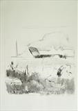 unsprayed field 1 by Jeremy Scrine, Drawing, Charcoal on Paper
